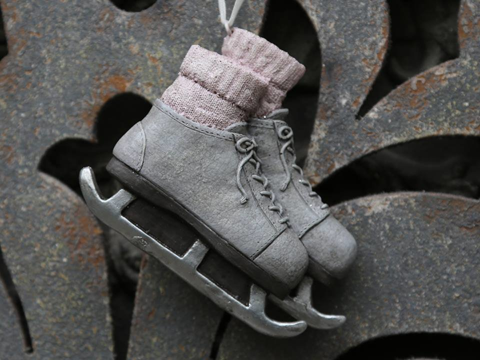 Vintage skøjter H9/L11 cm