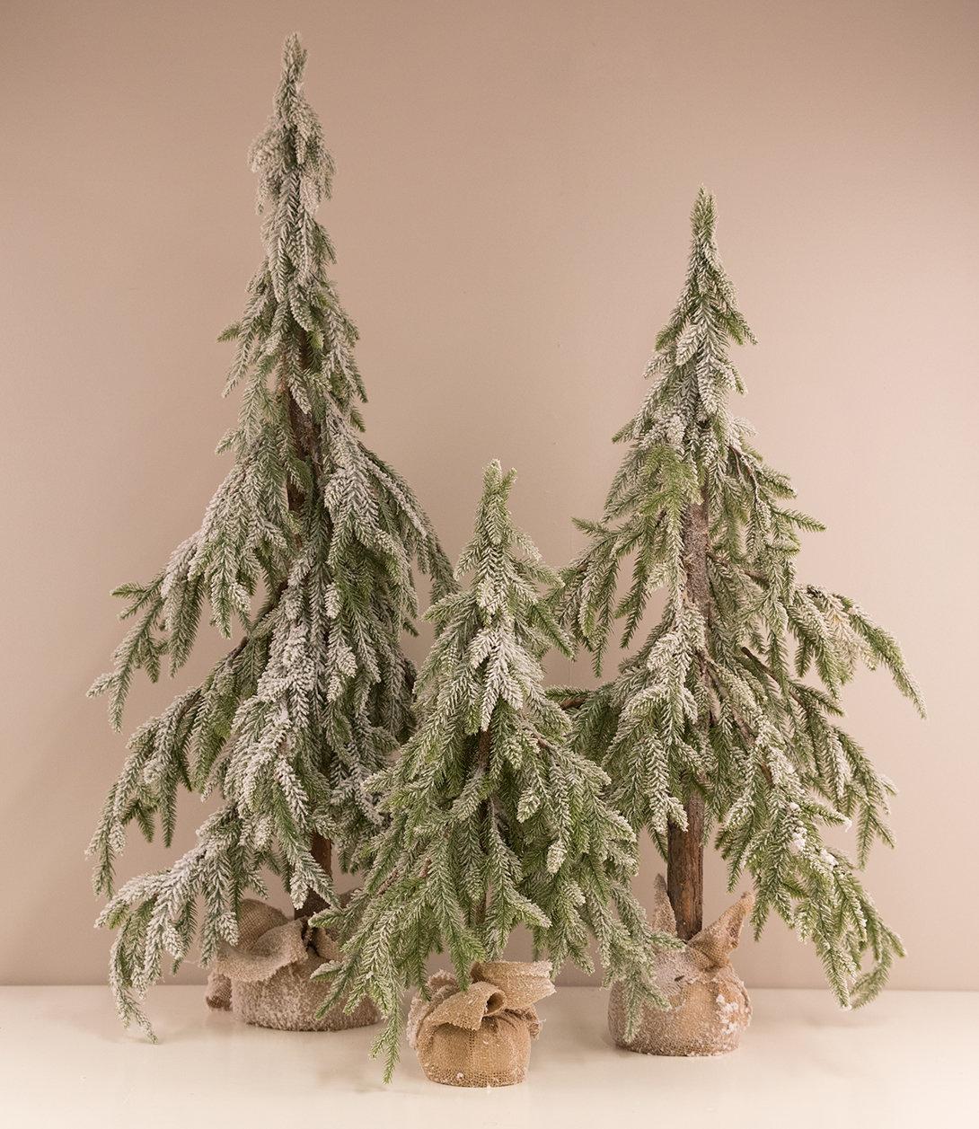 Pynte juletræ m. sne H35x35x70 cm