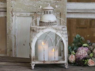 Lanterner stor Church Antique hvid H45L26D17 cm