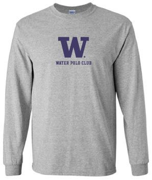 Long Sleeve UW Water polo Supporter Shirt (Unisex)