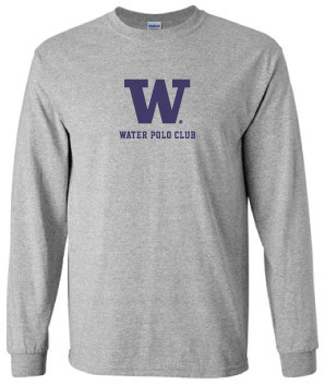 Long Sleeve UW Water polo Supporter Shirt (Unisex)