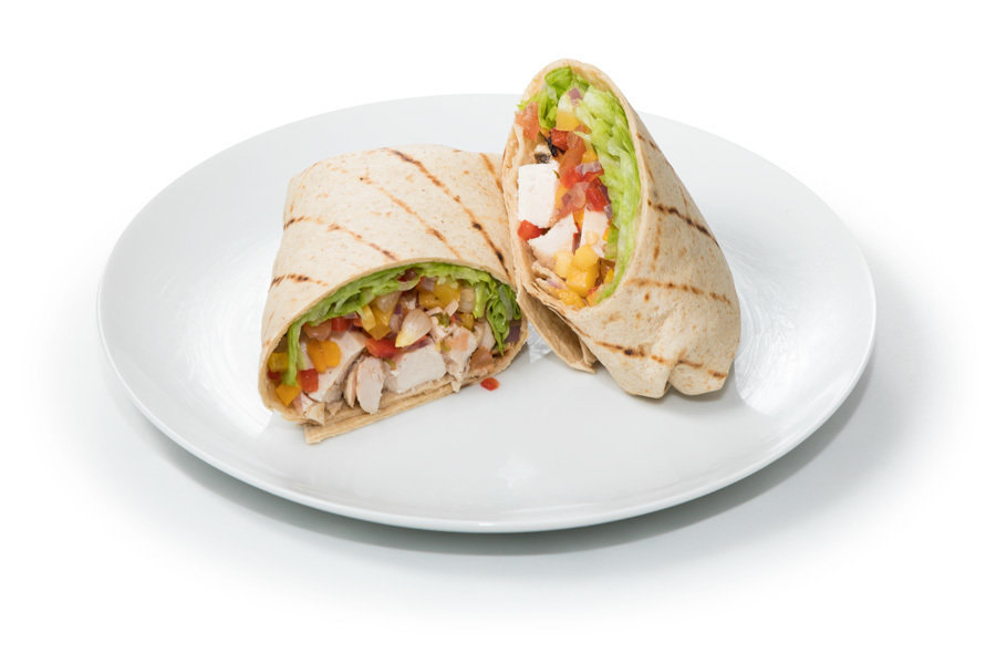 Chicken Mango Salsa Wrap