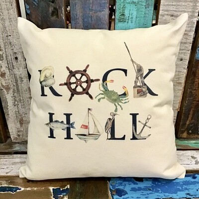 Rock Hall Throw Pillow