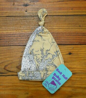 Chesapeake Bay/Rock Hall Chart Map Baby Beanie