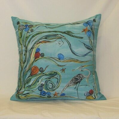 Heron Indoor/Outdoor Pillow