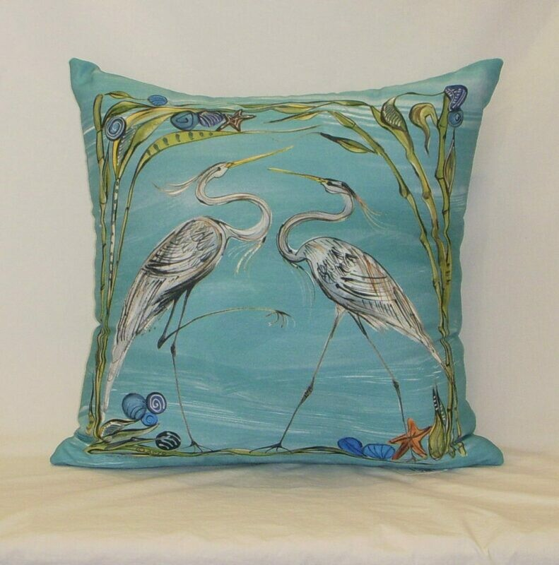 Heron Indoor/Outdoor Pillow