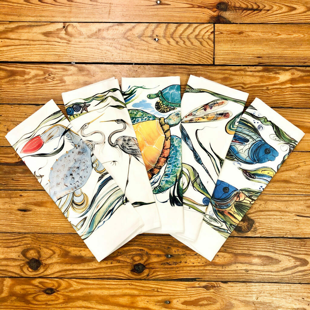 Coastal Tea Towels