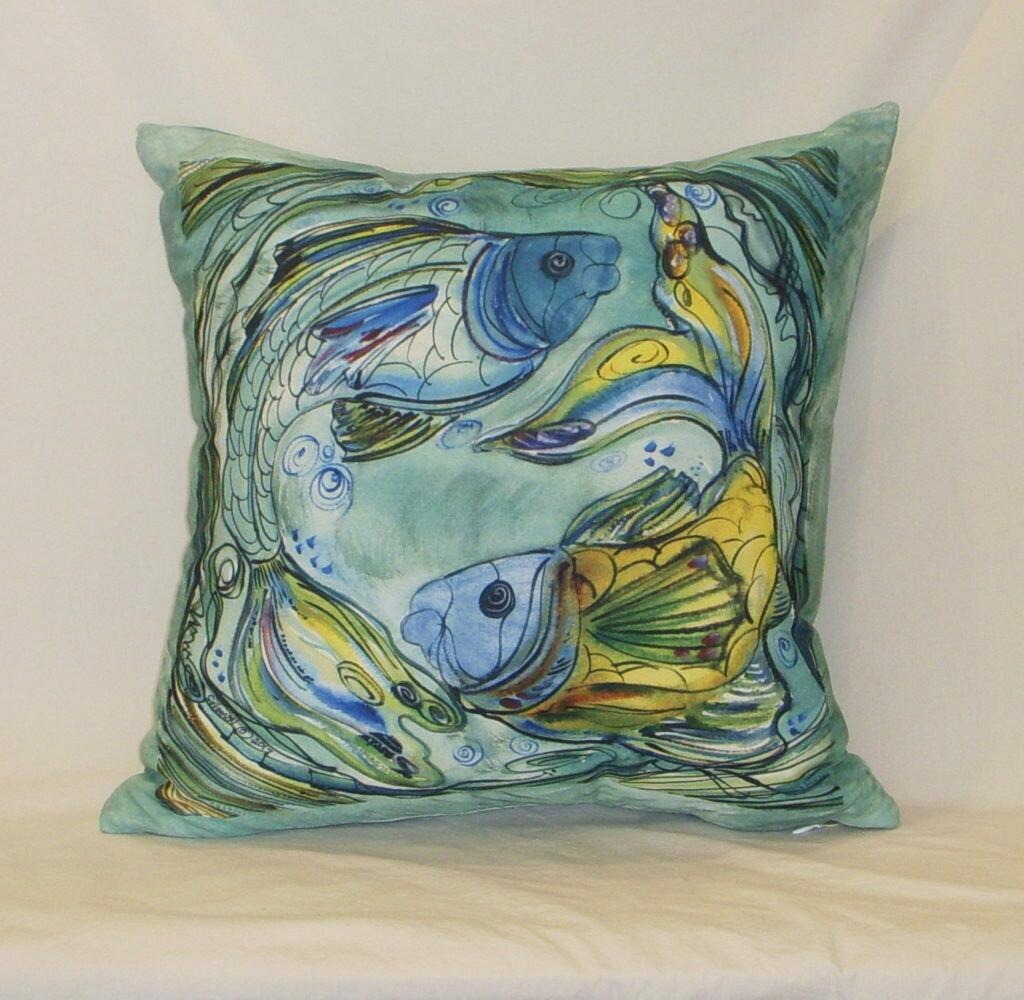 Fish Indoor/Outdoor Pillow