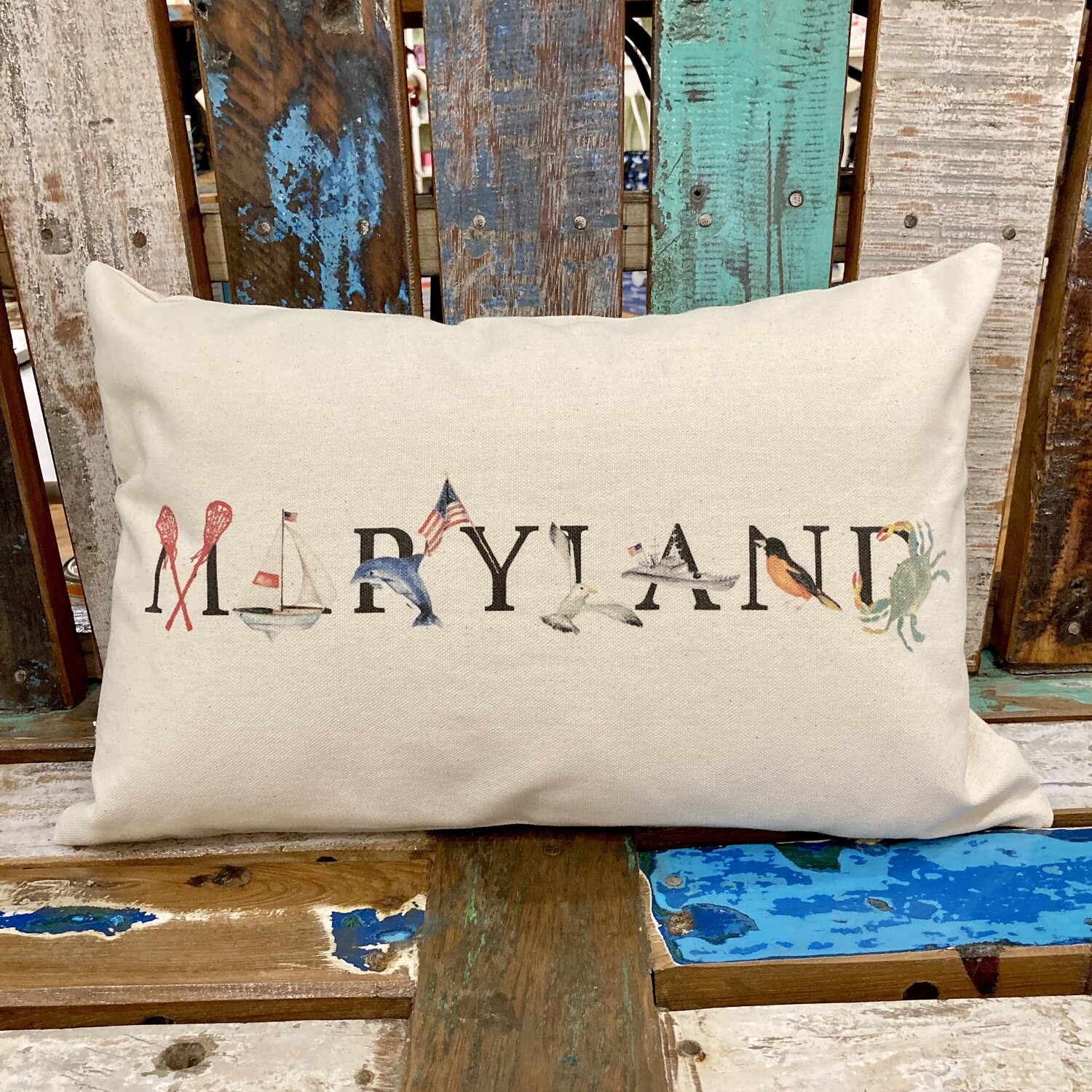 Maryland Throw Pillow Store The Hickory Stick