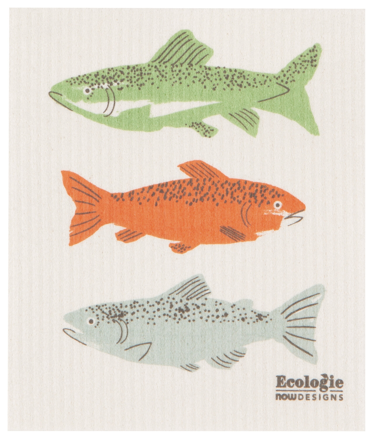 Gone Fishin Swedish Dish Cloth