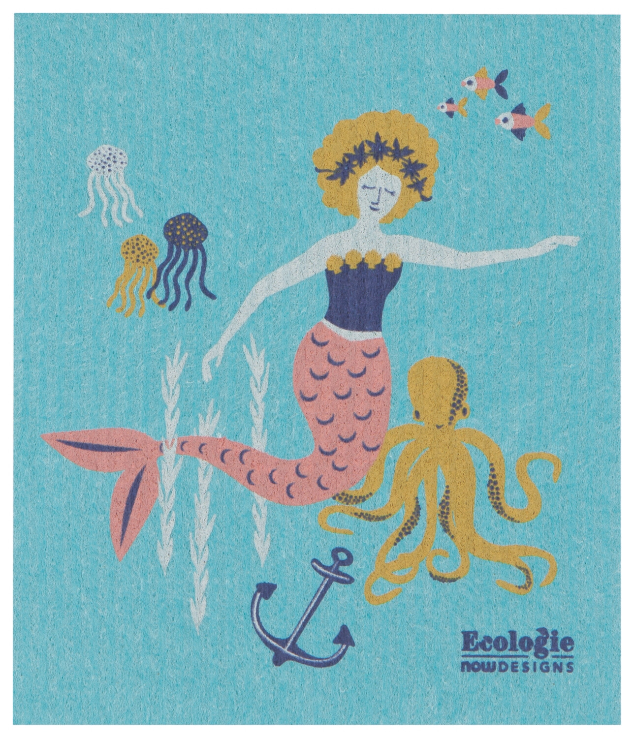 Mermaid Swedish Dish Cloth