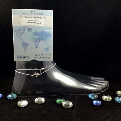 Dune Jewelry- Delicate Dune Turtle Anklet