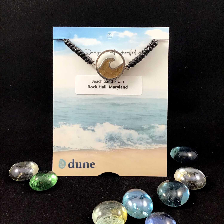 Dune Jewelry- Cresting Wave Black Cord Bracelet
