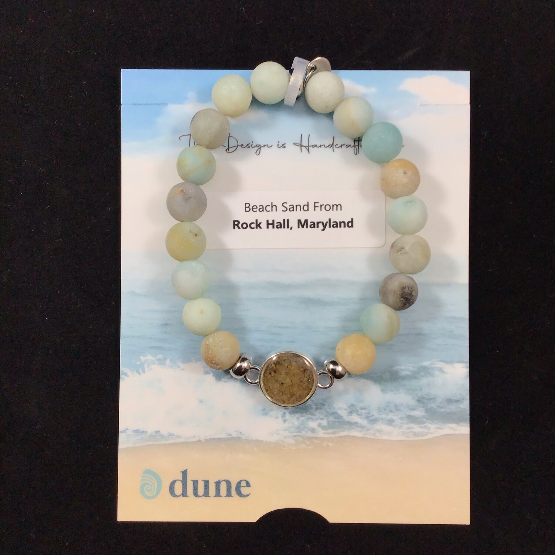 Dune Jewelry- Amazonite Beaded Stretch Bracelet
