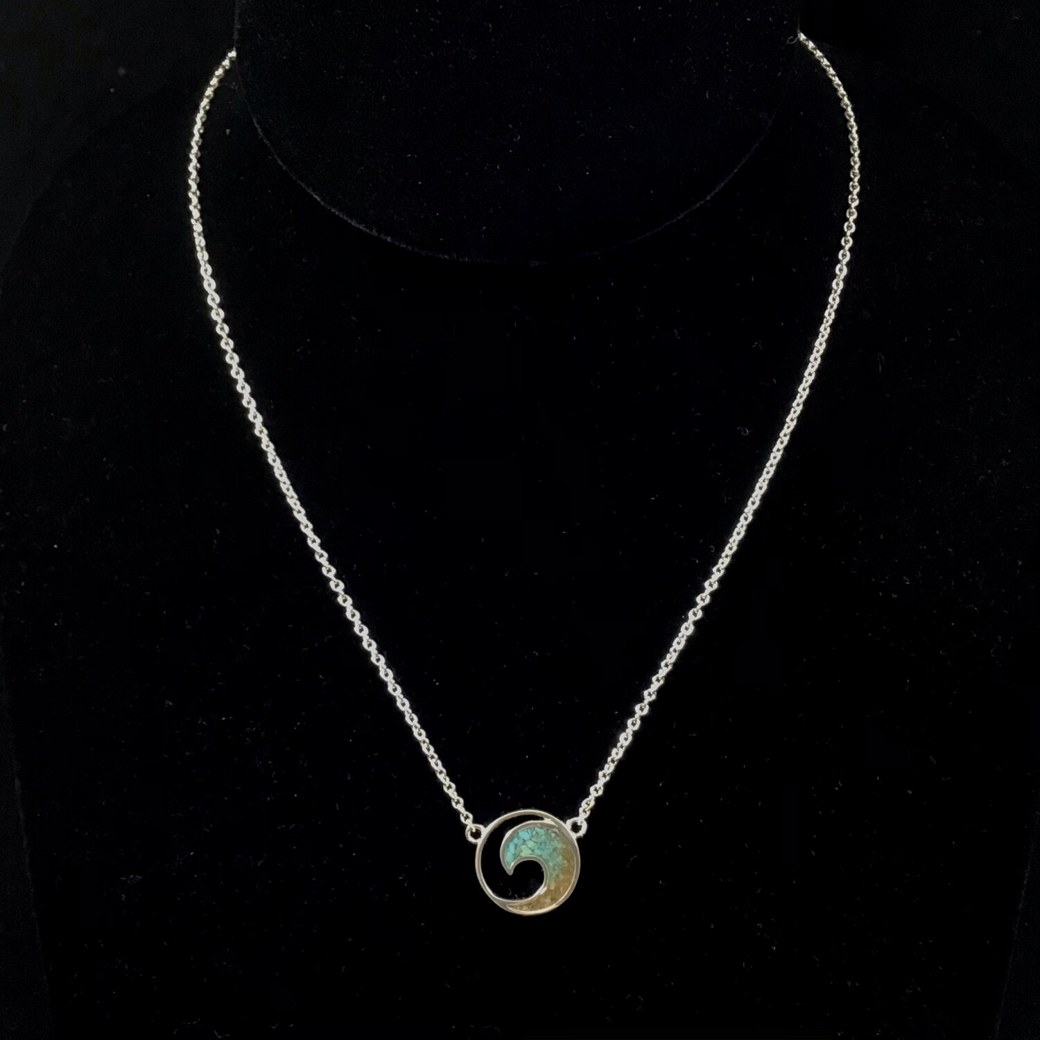 Dune Jewelry- Wave Stationary Necklace