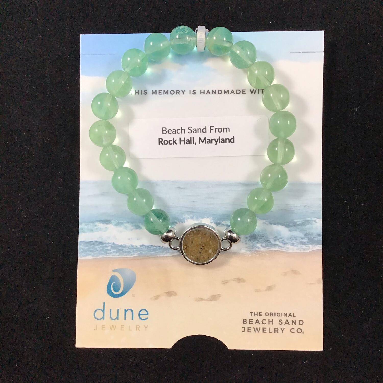 Dune Jewelry- Prehnite Beaded Stretch Bracelet