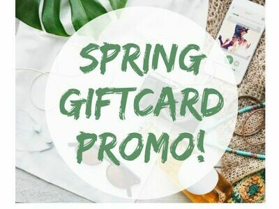 Gift Card- $400 PLUS a FREE $40 Sampler Facial for SPRING!