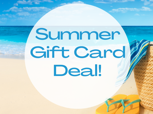 Gift Card- $300  PLUS a FREE $40 Sampler Facial for SUMMER!