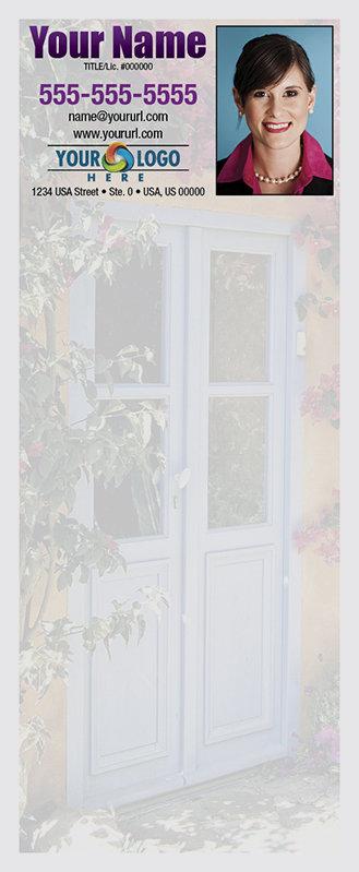Full Color Custom Notepads | Light Blue Doors