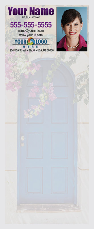 Full Color Custom Notepads | Blue Door with Flowers