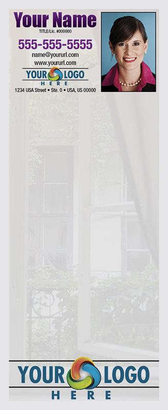 Full Color Custom Notepads | Half open window