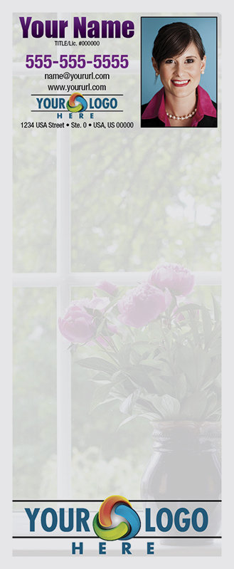 Full Color Custom Notepads | Window with Flowers