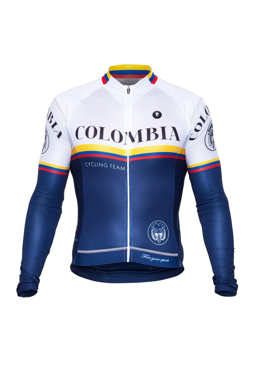 Long Sleeve Jersey - Colombia Blue