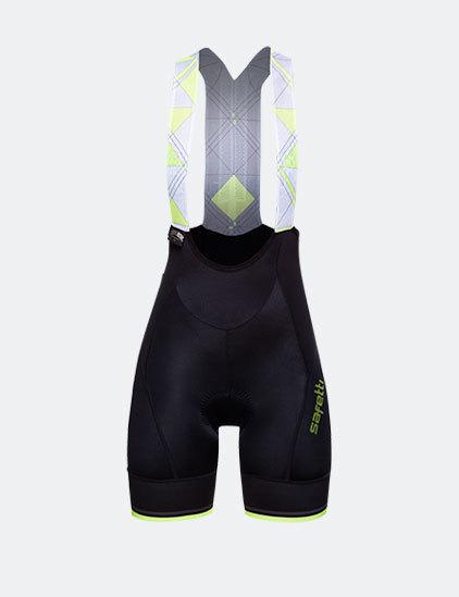 Bib Shorts - Geometric Yellow