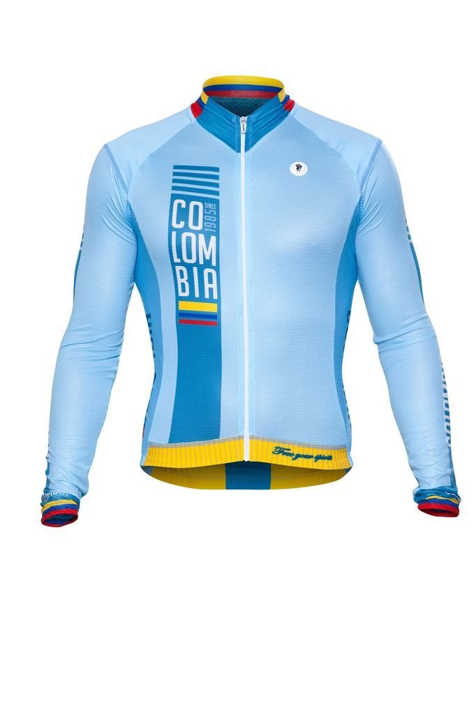 Long Sleeve Jersey - Colombia Blue