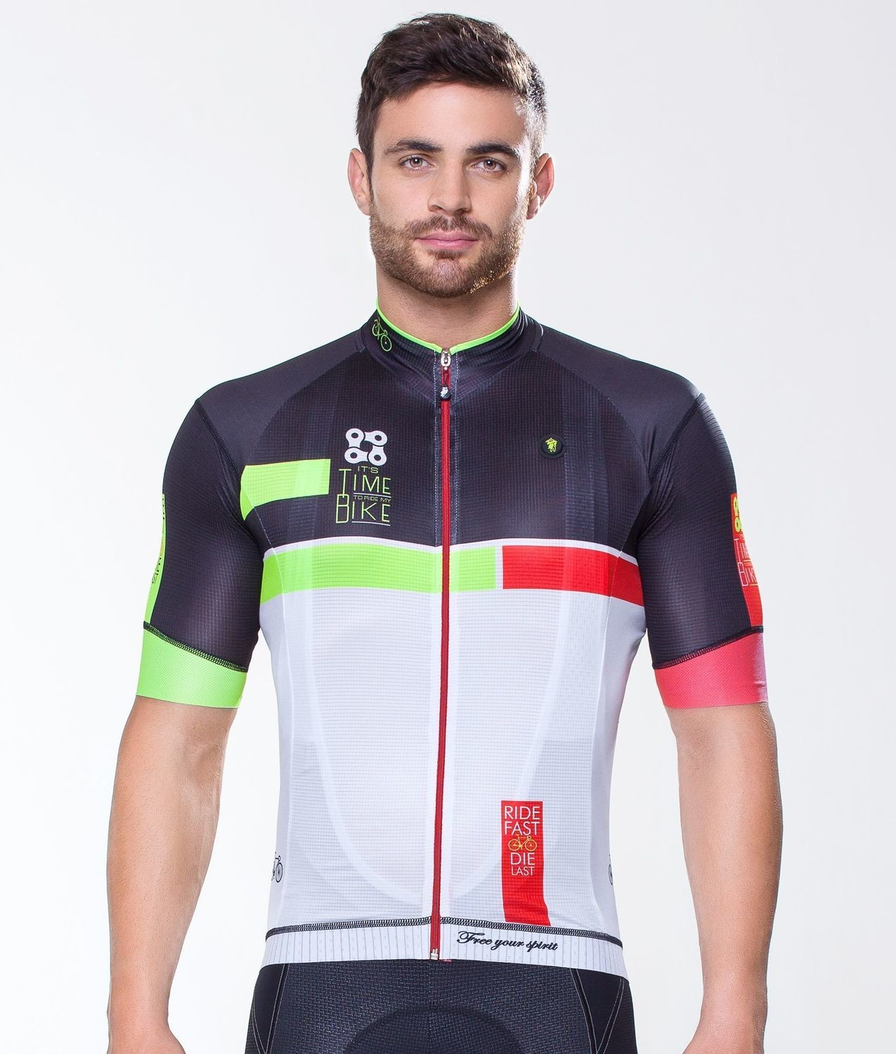 Short Sleeve Jersey - Time to Ride Red