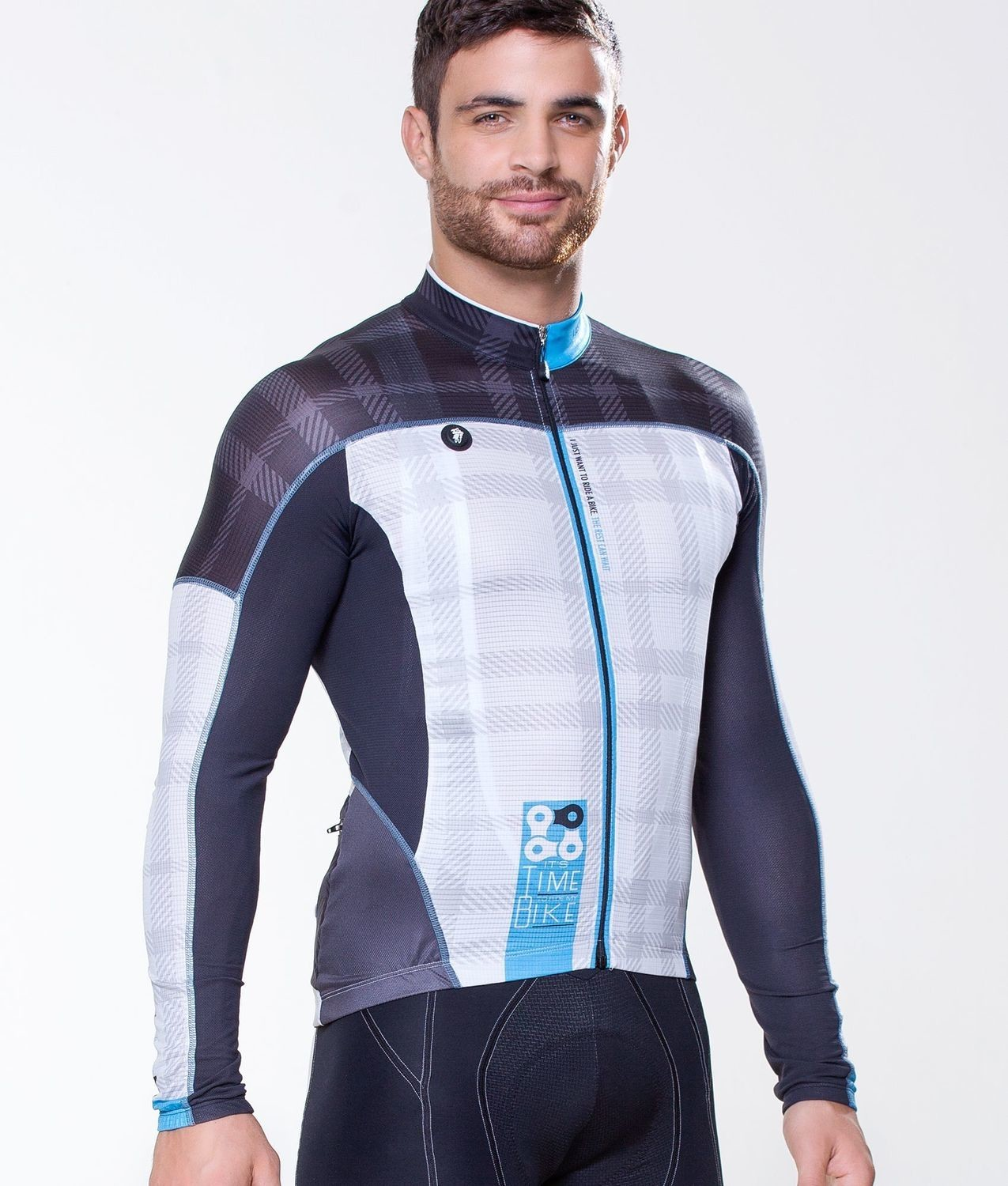 Long Sleeve Jersey - Simple Blue
