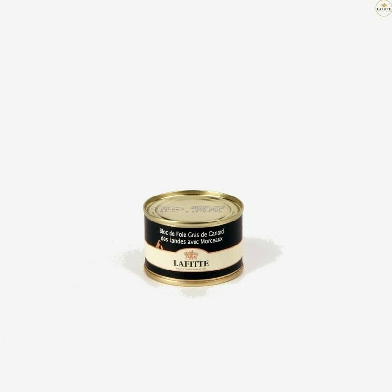 Kachní Foie gras blok, 30% kusky, plechovka, 65g
