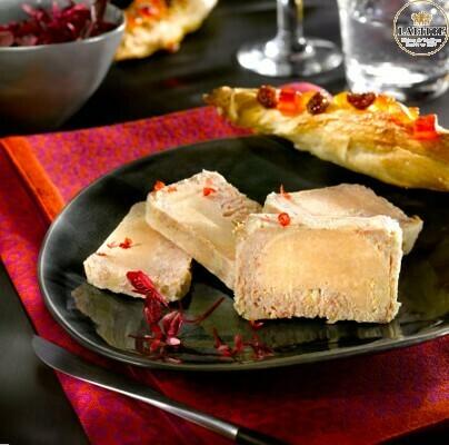 Paštika z Landes, 50% blok Foie Gras