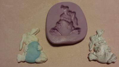 Bunny with Egg Mold