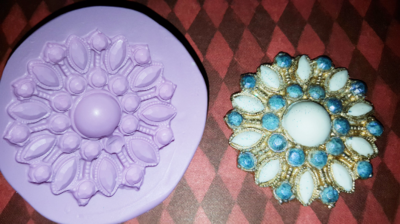 Marquee Brooch Mold