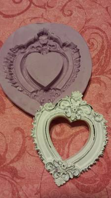 Fancy Heart Frame Mold