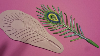Peacock Feather Mold