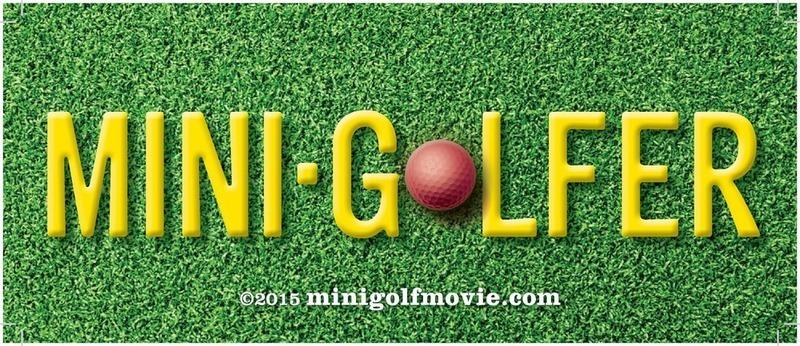Mini Golfer removable bumper sticker
