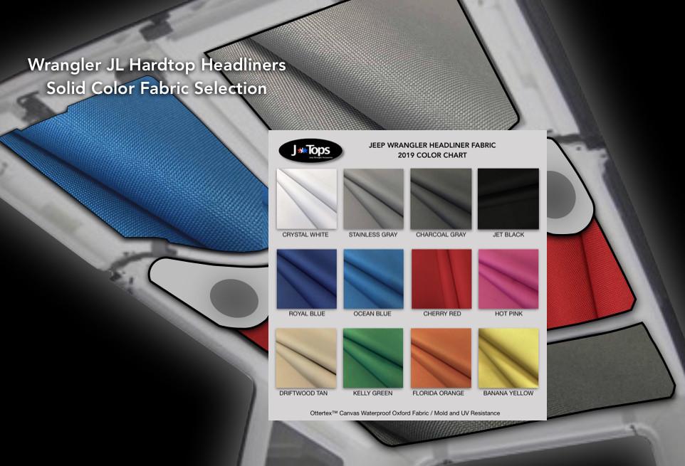 WRANGLER JL 4 Door Hardtop Headliners Solid Colors