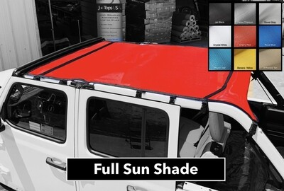 Sun Shade • Wrangler JL 2/4 Dr (2018-21) • SOLID COLORS