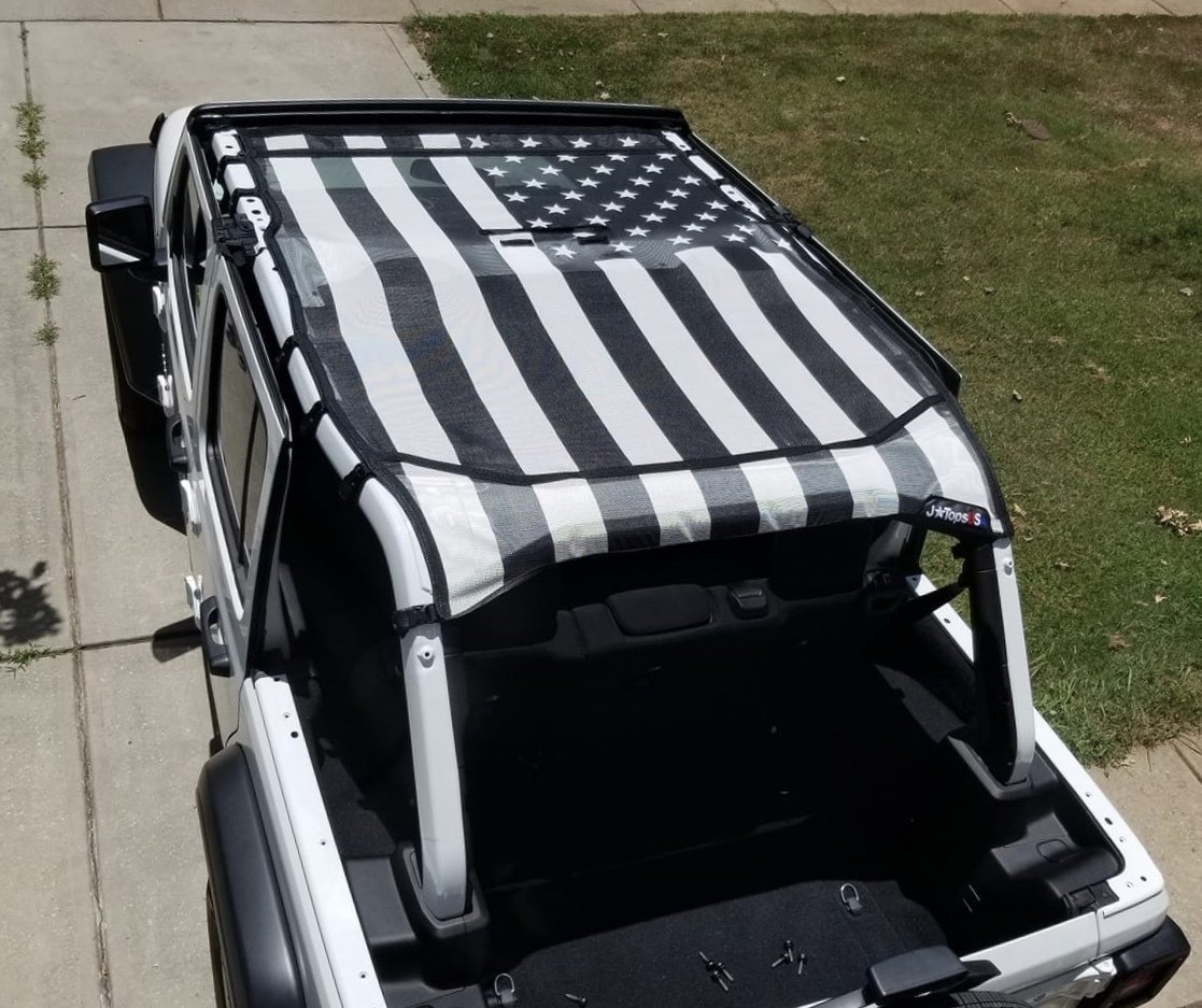 Wrangler JL  American Flag Sun Shades 2018-Current / 2 and 4 Door