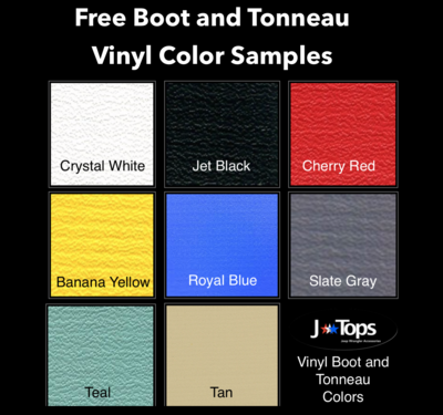 Free Boots and Tonneau Cover Vinyl Samples: Solid Colors