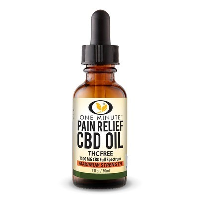 One Minute CBD Oil THC FREE 1500mg