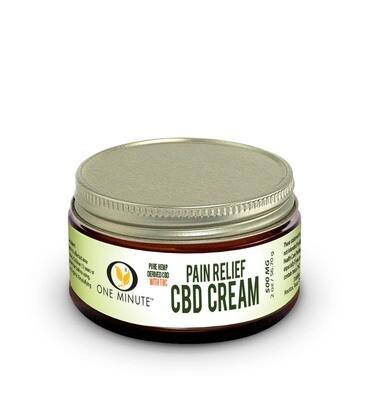 2oz One Minute CBD Cream w/THC 500mg