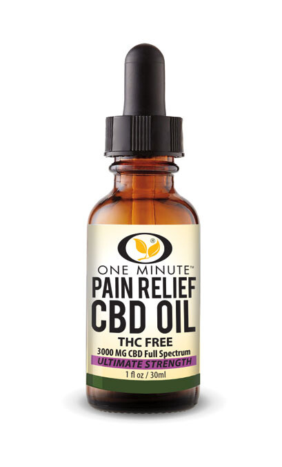 One Minute CBD Oil THC FREE 3000mg