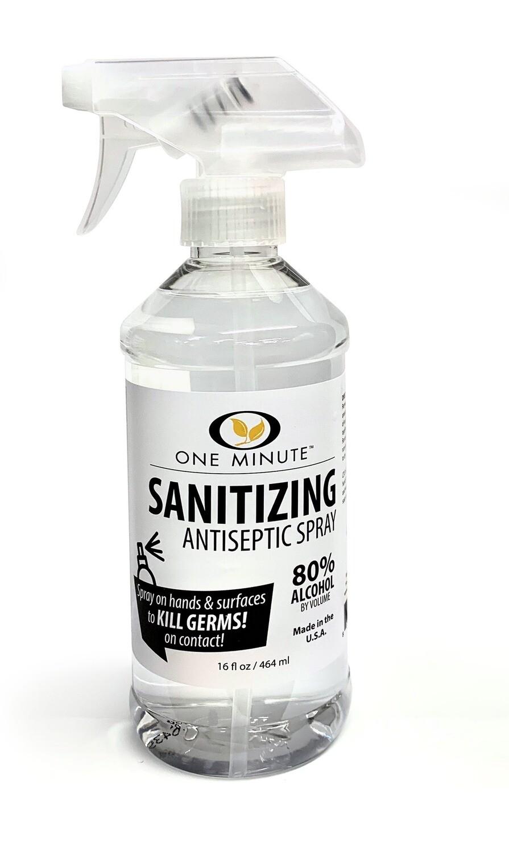 One Minute Sanitizing Antiseptic Spray 16oz