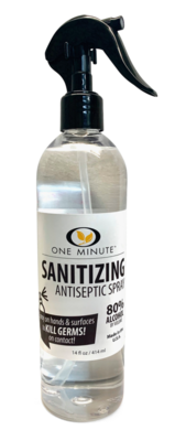 One Minute Sanitizing Antiseptic Spray 14oz