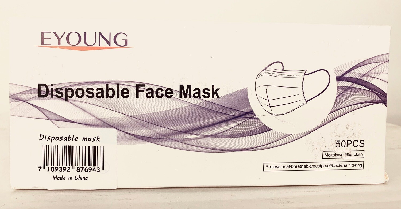Disposable Face Masks (Box 50