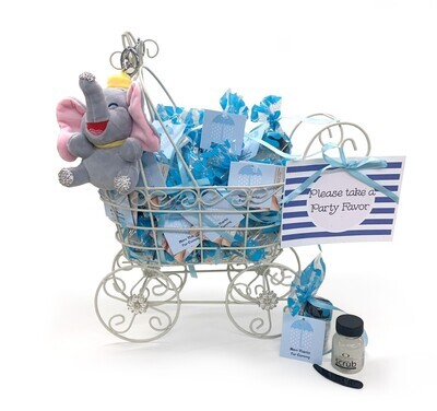 Party Favor Baby Buggy Blue