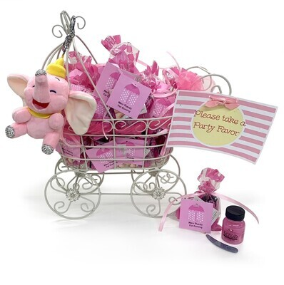 Party Favor Baby Buggy Pink
